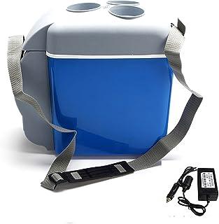 7.5L kylbox med uppvärmningsfunktion-bärbar bilkylskåp-minikylbox för campingvagn, lastbil, blå,12V 24V Universal