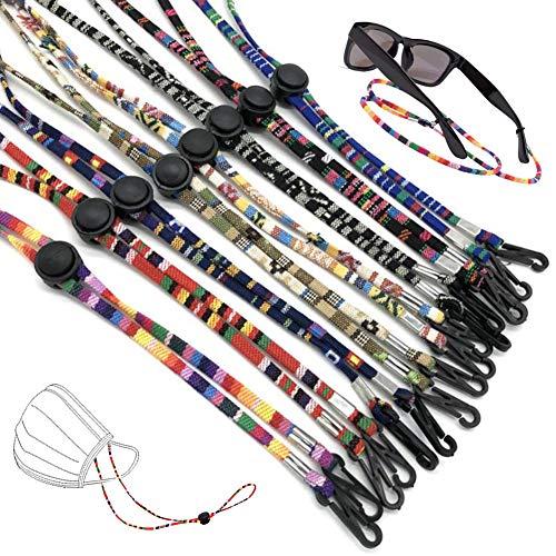 JAHEMU Cordón de Máscara Ajustable Cuerda Gafas Hombre Mujer Deportes Gafas de Sol Soporte Correa para Los Deportes y Actividades al Aire Libre, 8 Pcs, Color Aleatorio