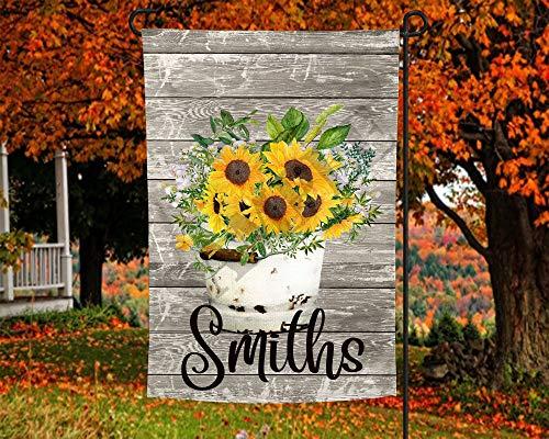 Farmhouse Sonnenblumen im Eimer Gartenflagge Vorlage Frühling Garten Dekorative Fahne