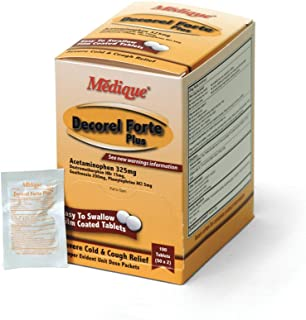 Medique Products 42533 Decorel Forte Non Drowsy, 50-Packets of 2, Severe Cold and Cough Relief