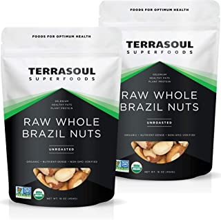 Terrasoul Superfoods Organic Brazil Nuts, 2 Lbs (2 Pack) - Raw   Unsalted   Rich in Selenium