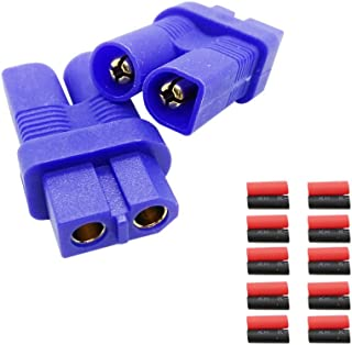 EKFAY One Two Smart Multifunctional RC Battery Connectors Female XT60 to Male EC3 (2Pcs)