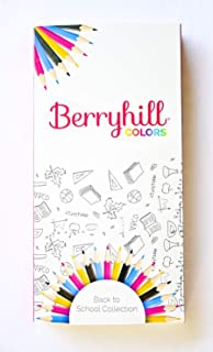 Berryhill Home Drawing Placemat - 4 Markers for Kitchen Table for Kids & Toddlers - Non-Slip Silicone, Washable, Perfect for Dinner Table