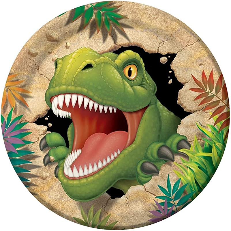 CREATIVE CONVER Dinosaur Adventure Dinner Plates