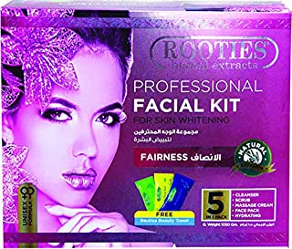 Rooties Professional Facial Kit Fairness 5in1 Pack(Cleanser+Scub+Massage Cream+Face Pack+Hydrating), 1050g Plus 3 Beautisa...