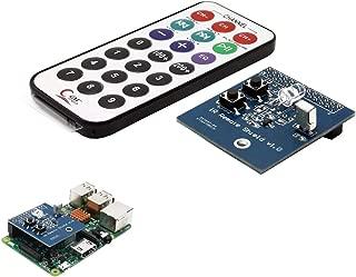 ZUIANSHANG Raspberry Piに適したIR赤外線レシーバーおよびトランスミッター拡張ボード モジュ