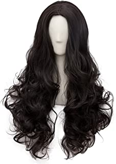 Netgo Black Cosplay Wigs for Women Long Curly Hair Wigs Lolita Style Heat Resistant Synthetic Full Wig