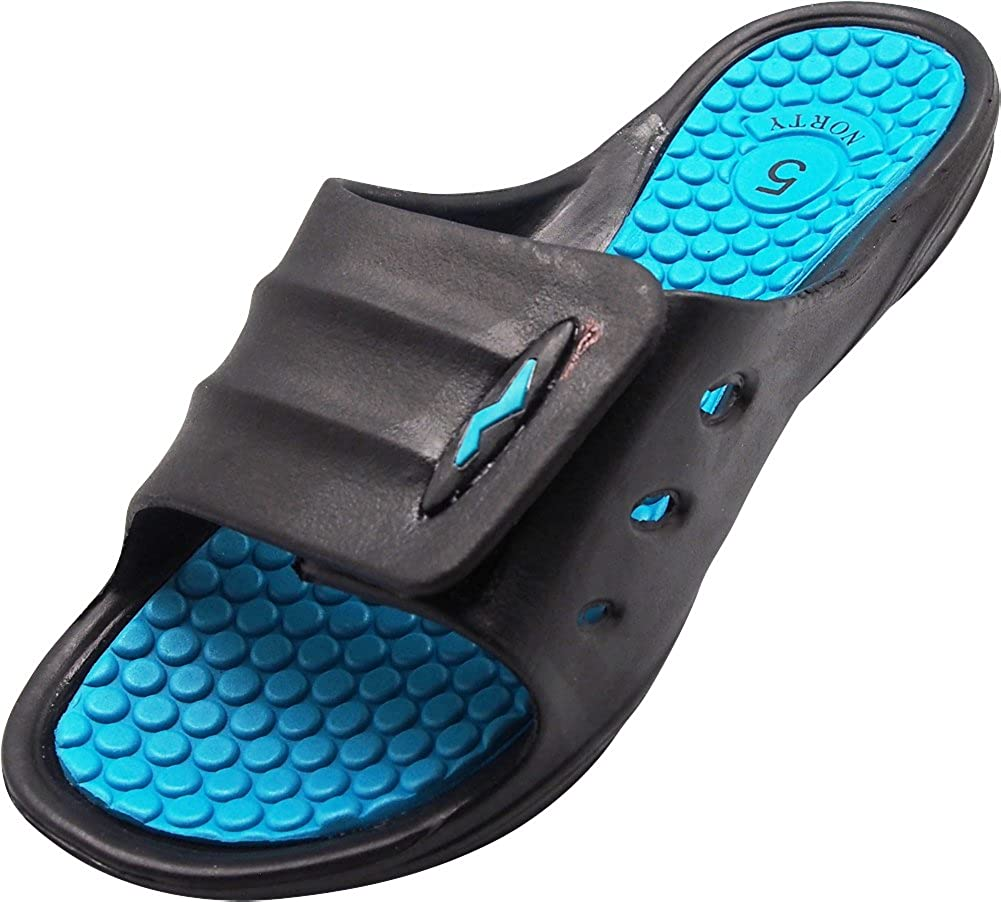 NORTY - Women's Slide Strap Shower Beach Pool Sandal - 3 Color Combinations