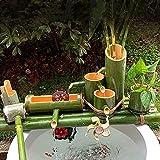Decoración De Fuente De Bambú Fuente De Bambú Característica De Agua Fuente De Bambú Decoración Caño De Agua Con Bomba Rueda De Feng Shui Esculturas Estatuas Artes Artesanía Obra De Arte 80Cm