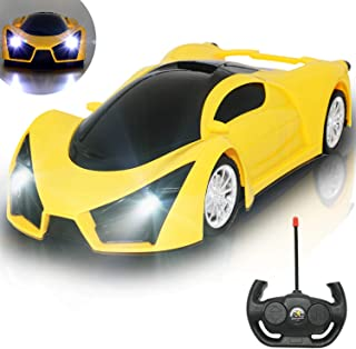 Kulariworld Remote Control Car 1/16 High Speed RC Cars Toys for Kids Boys Girls Super Vehicel Racing Hobby with Led Lights Best Gifts for Kid