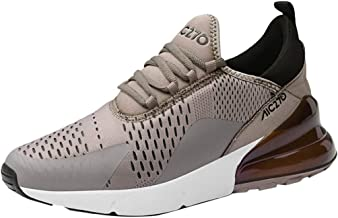 NUWFOR Fashion Men憇 Leisure Athletic Flat Running Mesh Shoes Non-Slip Light Sneakers(Brown,7 M US)