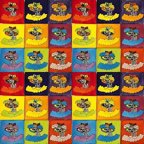 Cerames Catrinas- Azulejos Mexicanos decorados  10x10cm, 30 piezas   Azulejos artesanales de ceramica Talavera, hecho y pintado a mano, para baño y cocina