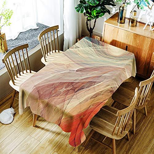 QWEASDZX Mantel Pequeño y Fresco de algodón y Lino Impermeable Anti-fouling Mantel de casa a Prueb