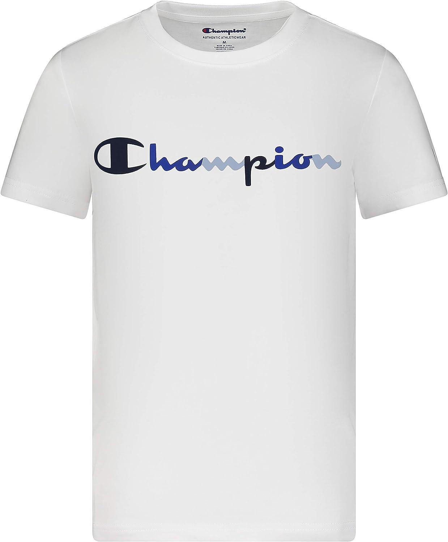 Champion Boy's Short Sleeve Fashion Tee Shirt Top for Kids