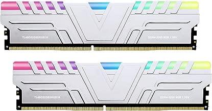 V-Color Prism RGB 16GB (2 x 8GB) DDR4 3200MHz (PC4-25600) CL16 1.35V Desktop Memory -Silver (TL48G32S8KSRGB16)