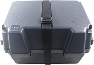 La caja de la batería de 100 Ah cuadro negro, resistente a los ácidos y irrompible plástico