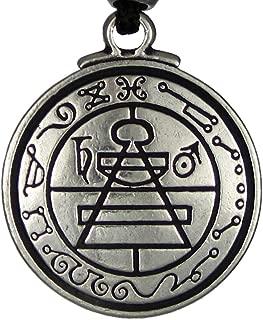 Pewter Talisman Secret Seal of Solomon Pentacle Pendant - 1.25 Inch Diameter