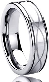 ladies patterned wedding rings