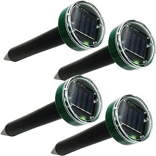 high×tech 音波振動 撃退棒 4個セット モグラ ネズミ 蛇 動物 虫 超音波 ソーラー式 防水 簡単設置 省エネ