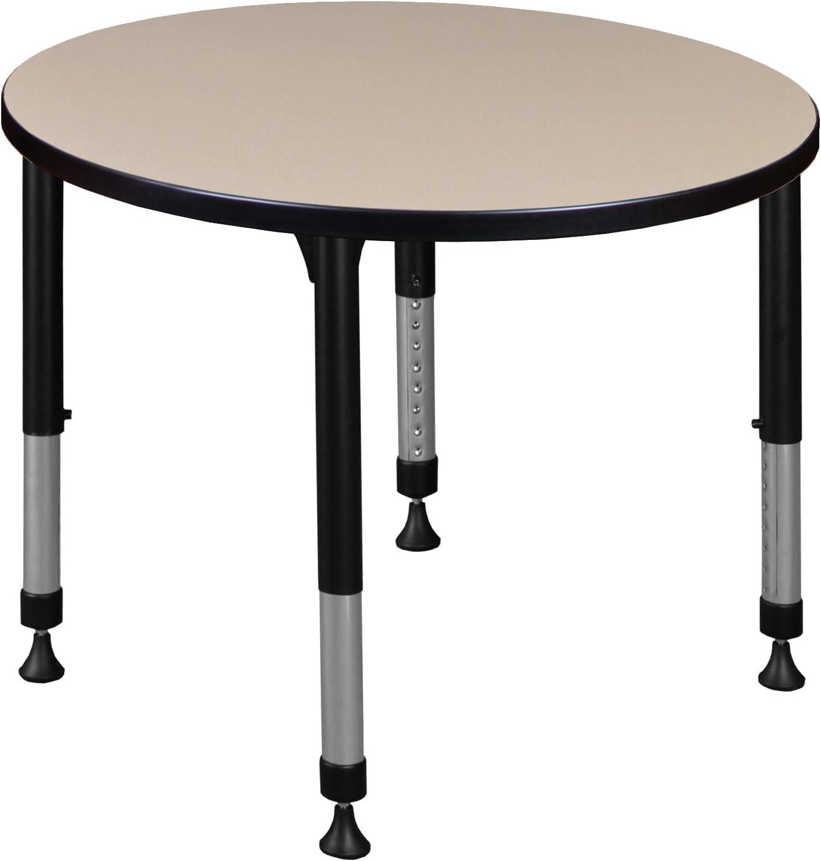 Regency Round Height Adjustable Classroom 正規激安 Table 推奨 Beige 30