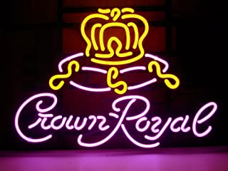 New Crown Royal Real Glass Neon Light Sign Home Beer Bar Pub Sign H73