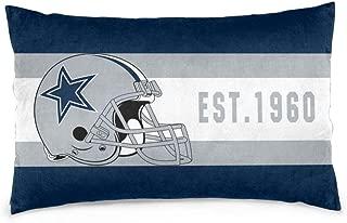 Dalean Custom Rectangular Pillowcases Dallas Cowboys Football Team Soft Throw Pillowslips Pillow Cover Home Design Cushion with Hidden Zipper for Sofa Office Bedroom 16