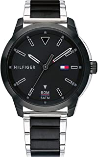 Tommy Hilfiger 1791619 Mens Quartz Watch, Analog Display and Stainless Steel Strap, Black
