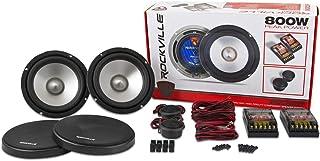 Rockville RVL6KIT 6.5' 800Watt/Pair Component Car Audio Speakers Aluminum Cone
