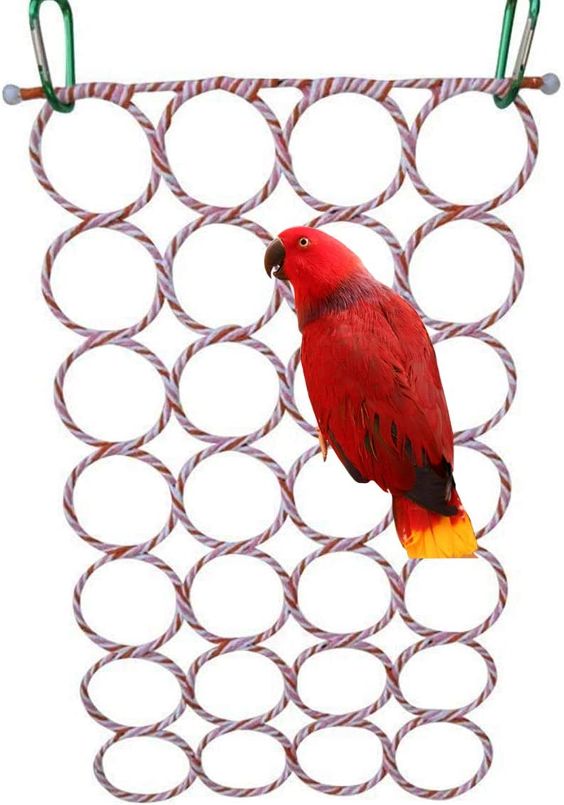 Bird Max 86% OFF Rope Climbing Net Parrot Swing High quality new for Parakeet Coc Hanging Toy