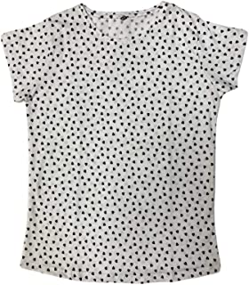 Veronica Ladies Blouse White print black hearts