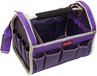 Pretty Purple Tool Carry-All With Silver-GrayTrim-12-1/2 X 9-1/2 X 8 Inches With Multiple Pockets And Metal Handle: AB73-13W-VLT