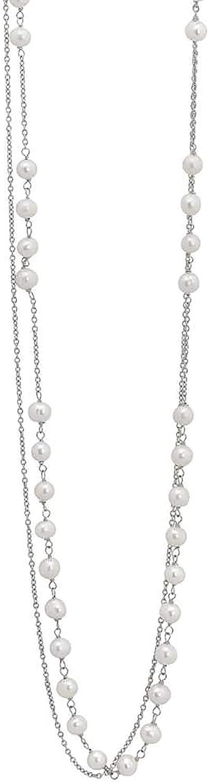 Boccadamo gioielli mikiami trendy,collana per donna, in acciaio e perle naturali MK/GR11