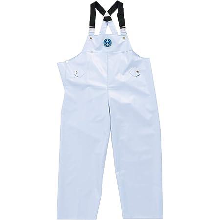 水産マリンレリー 胸付ズボン 漁師のための専用合羽 (L, ホワイト)