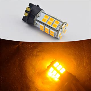 Ruiandsion Car LED Light PWY24W White/Yellow LED Daytime Running Light 2835 36smd 720lm 12-24 VDC 3.6W 2pcs (Yellow)