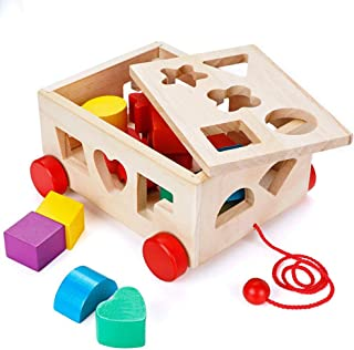 Shape Sorter Toy, Building Toys Children Educational Building Blocks Toys for Babies Early Educational Game Toy Toddlers B...