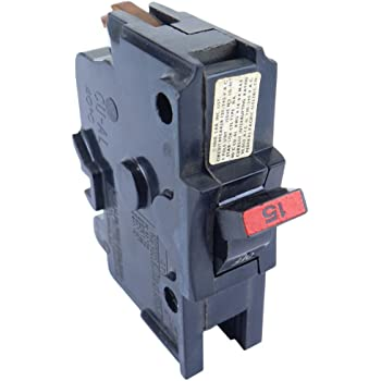 015 RED OR BLACK HANDLE FPE 1- BREAKER FEDERAL PACIFIC // CHALLENGER STAB-LOK 15 AMP 1 POLE NC TYPE THIN 1P 15A