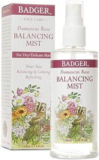 product image for Badger - Damascus Rose Balancing Mist, 94% Organic Ingredients, Rose Water Face Spray, Facial Spray for Dry Skin, Rose Water Spray for Face, Rosewater Spray, 4 fl oz Bottle