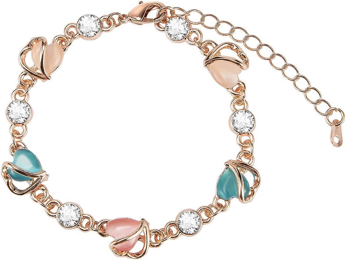 EnjoIt Lovely White Gold Plated Rose Bracelet Tennis Regular discount Virginia Beach Mall Li
