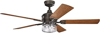 Indoor Ceiling Fans Light with Olde Bronze Tone Finished Steel Material 60 inch