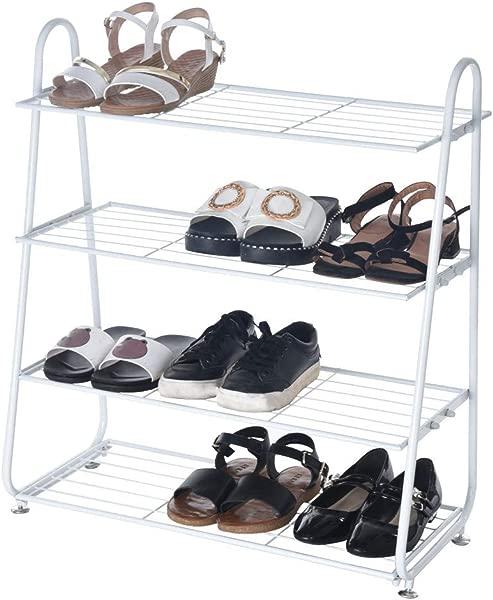 C 简易不锈钢鞋架 4 层简易铁网实用鞋架植物货架鞋子组织者货架鞋袋植物玩具等仓库 24 827 969 84 英寸