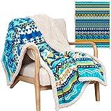 Aztec Blanket - 50x60 Inch Luxurious Ultra Soft Aztec Throw Blanket - Native American Inspired Colorful Aztec Navajo Boho Blanket