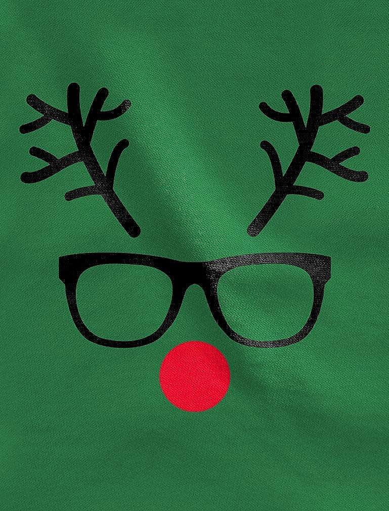 Christmas Reindeer Cute Geek Face Toddler Hoodie Gift