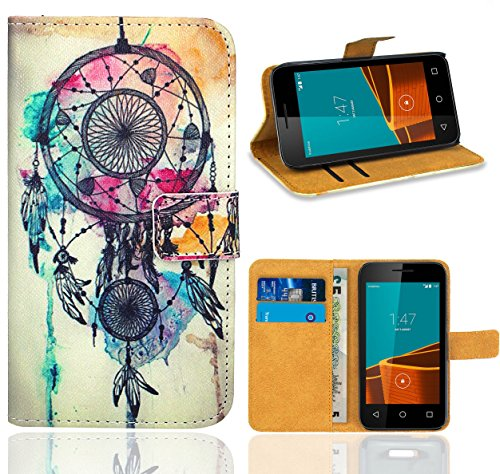 Vodafone Smart First 6 Case, FoneExpert Premium Leather Flip Wallet Bag Case Cover For Vodafone Smart First 6