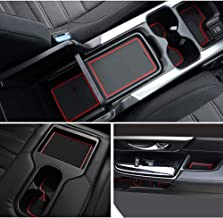 Auovo Door Liners Inserts Cup Console Mats for Honda CR-V Interior Decoration 2017 2018 2019 Honda CRV Accessories(Pack of 21,Red)