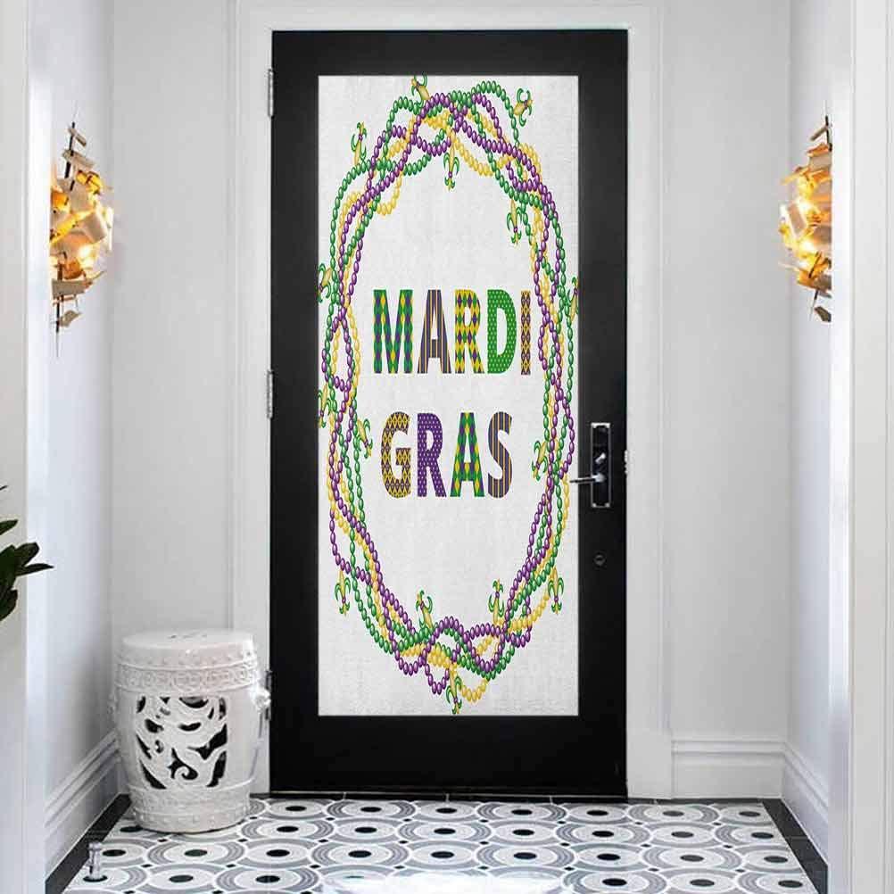 3D Modern Art Decorative Door Sticker Beads Mardi Vivid High order Ci High quality new Gras