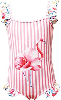 Maydear Swimsuits for Girls Swimwear for Girls Bathing Suits for Toddler - Pink