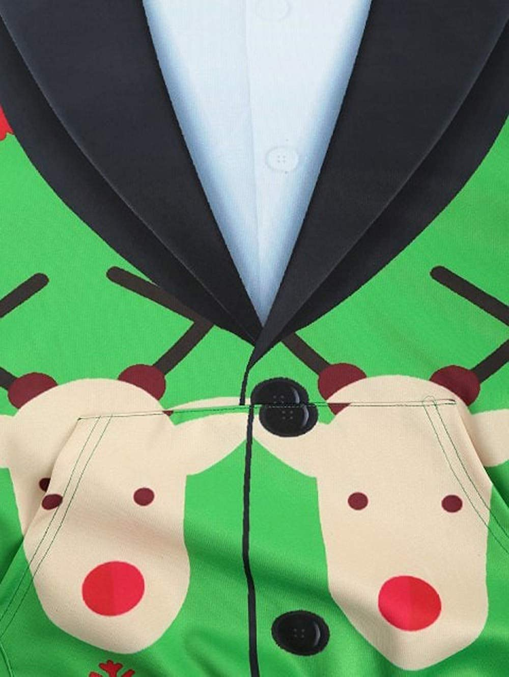 LIUguoo 3D Print Hoodies for Men, Christmas Long Sleeve Pullover Sweatshirt Ugly Hoodie with Pockets Slim Fit