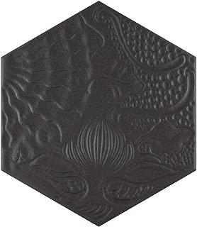 SomerTile FCD10GBX Mezzo Hex Porcelain Floor and Wall Tile, 8.625