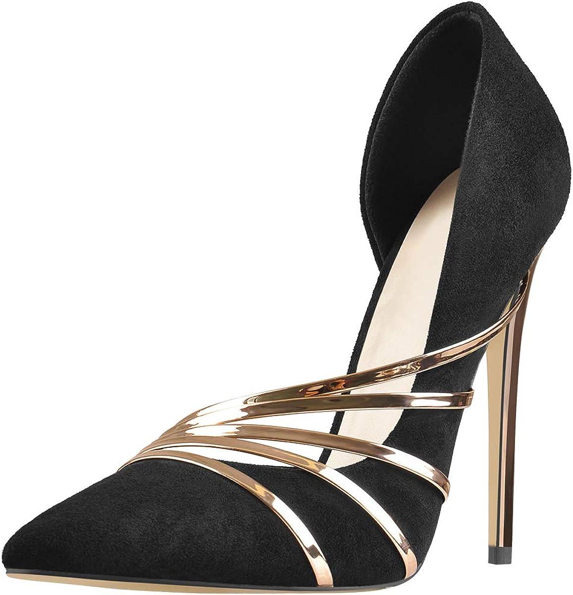 Ranking TOP11 Richealnana Women's Pointed Toe Pumps Long Beach Mall Heel Shoes Stiletto