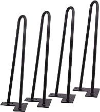 Zwarte haarspeldpoten, zware haarspeld meubelpoten, set voor 4 zware 2 stangen tafelpoten, bankpoten, metalen tafelpoten, ...